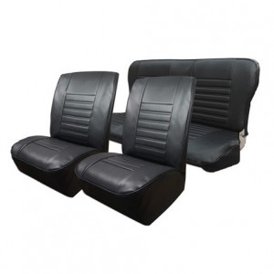 Ensemble de garnitures de sièges avant et banquette arrière R4  après 80 en skaï noir