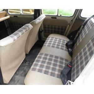 Ensemble de garnitures de sièges avant & banquette arrière skaï & tissu Beige/Marron