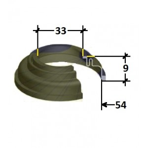 Soufflet d'étrier avant 45 mm R4