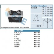 Interrupteur-Poussoir Essuie Glace 1 Vitesse R4/5/8/12