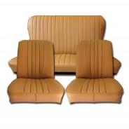 Ensemble de garnitures de sièges avant et banquette arrière R4 après 1980 en skaï caramel