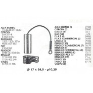 Condensateur standard Ducellier 12 volts