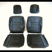 Ensemble de garnitures de sièges avant et banquette arrière R4 avant 1980  en skaï noir