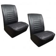 Ensemble de garnitures de sièges avant F4  après 80 en skaï noir